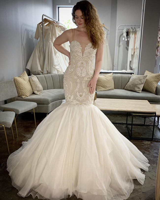 Ines Di Santo Spectacular New Wedding Dress On Sale 57