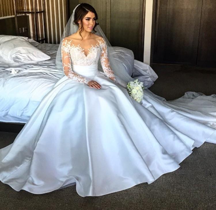 Steven Khalil Custom Made 2 Piece Dress Wedding Dress On Sale