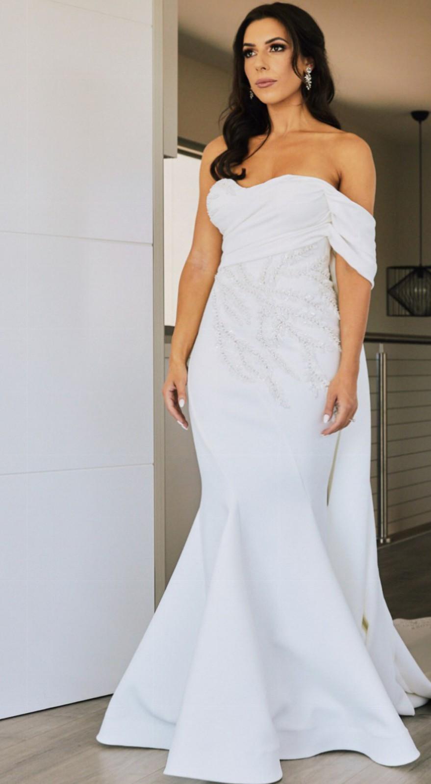 Jason Grech White Custom Made Second Hand Wedding Dress On