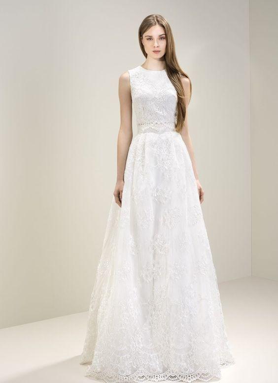 Jesus Peiro, 7051 Caroline Chantilly Dress