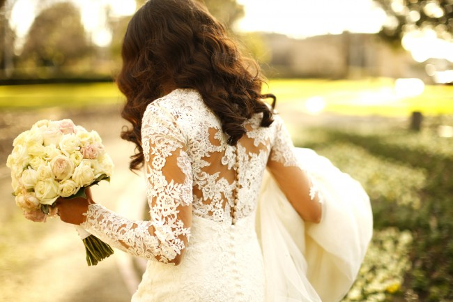 Pronovias Custom Made with Lace Sleeves