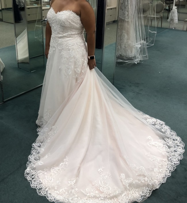 David's Bridal V3836