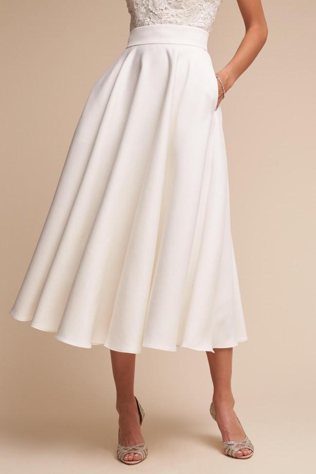 BHLDN Jordan Skirt Ivory 43801158