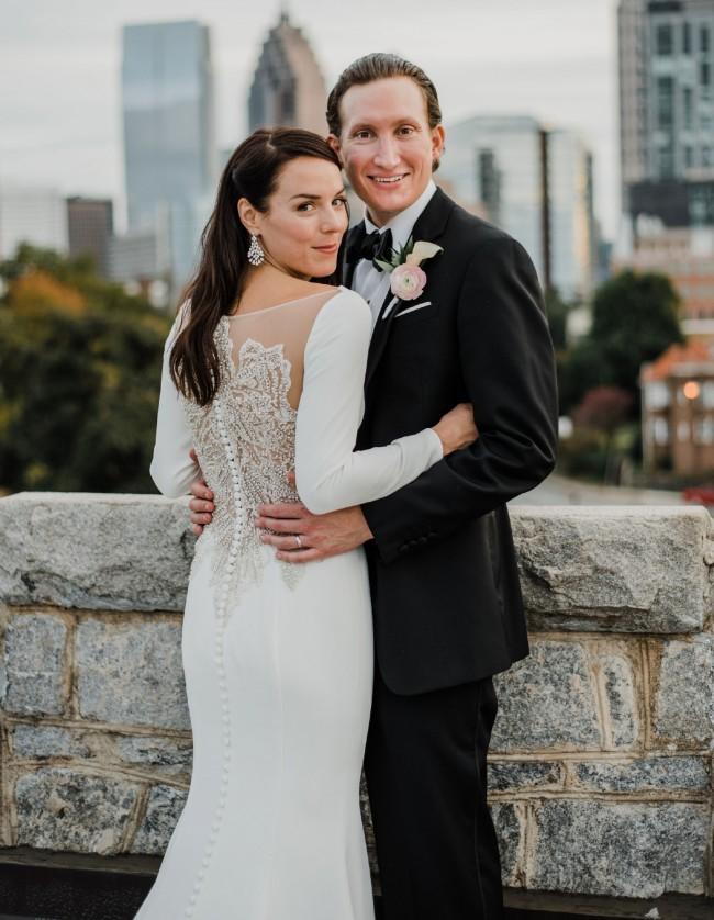 Justin Alexander 8936 Crepe Long Sleeve Wedding Dress