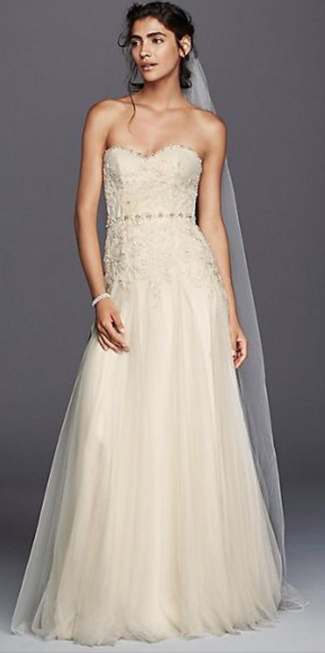 David's Bridal, Melissa Sweet Strapless