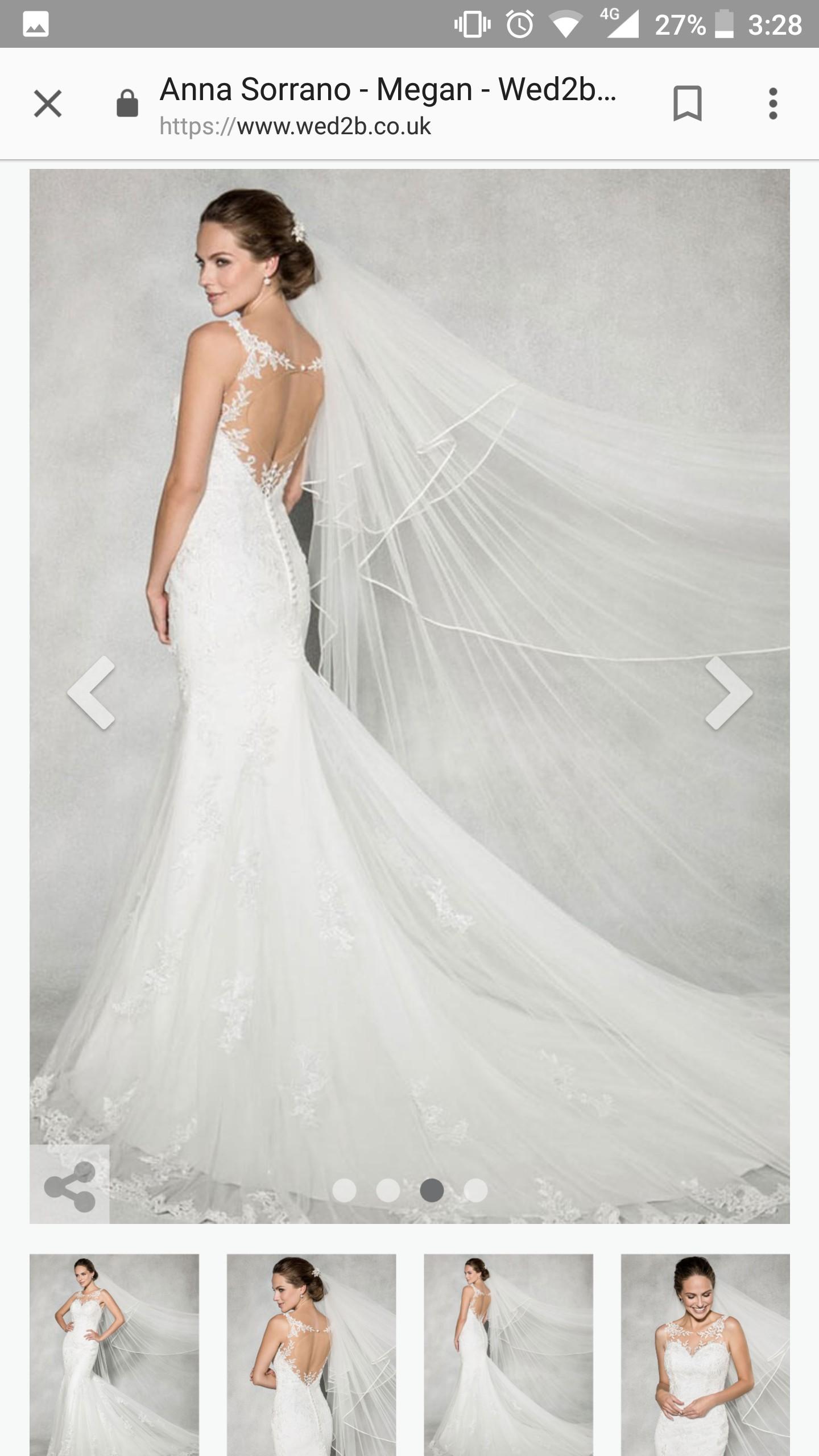 Who Designed Megan S Wedding Dress.Anna Sorrano Megan Wedding Dress On Sale 35 Off