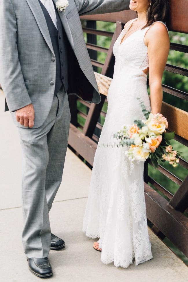 Galina Signature, Lace Keyhole Wedding Dress
