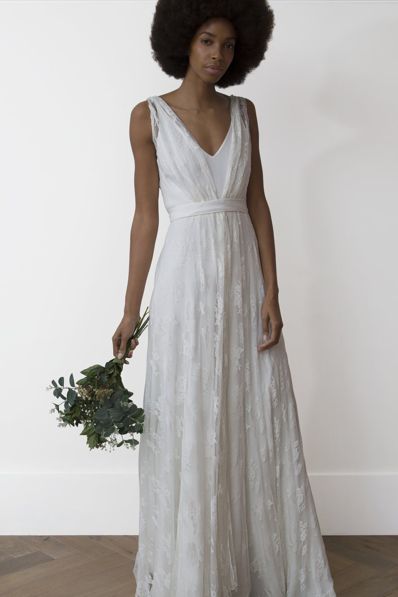 Charlie Brear Payton dress with Voulaire Overdress Wedding Dress On Sale 57% Off