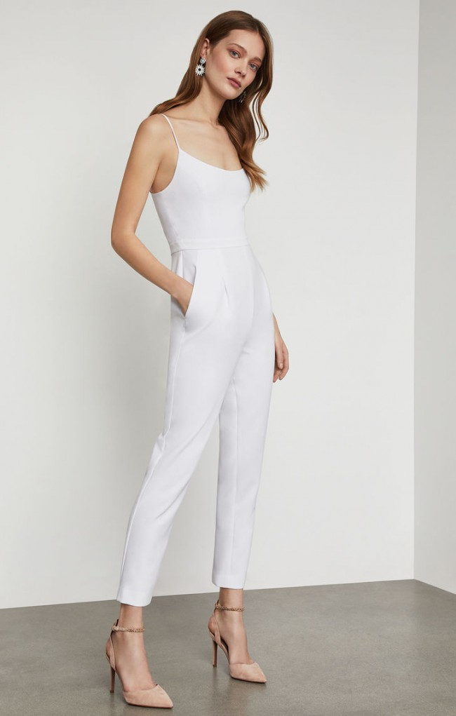 BCBGMAXAZRIA Strappy Pleated Jumpsuit