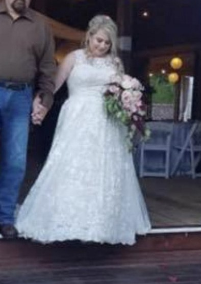 Oleg Cassini Model 8CWG780 Lace Plus Size Wedding Dress with Pl Wedding  Dress On Sale - 60% Off