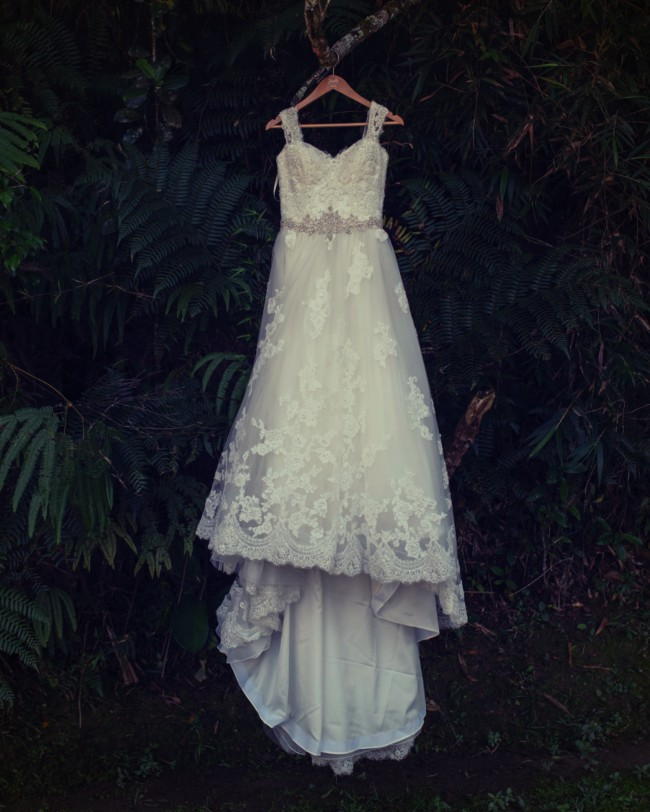 Casablanca Bridal Cherry blossom (with custom made sleeves)