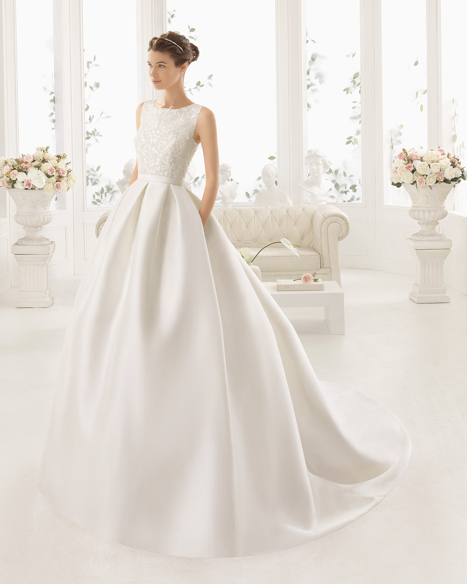 Second Hand Wedding Dresses: Aire Barcelona Arcilla Second Hand Wedding Dress On Sale