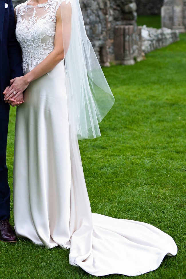 Justin Alexander Venice Lace and Luxe Charmeuse Bridal Gown - Style