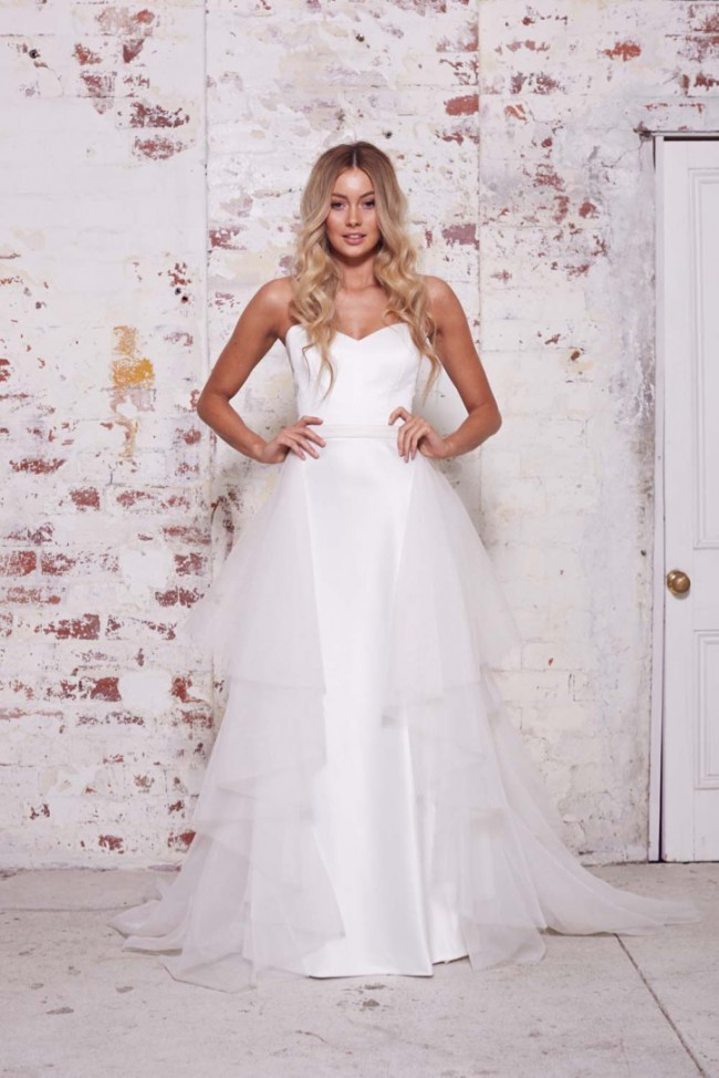 Karen Willis Holmes Clarissa Train & Kelly Gown | seperate or together