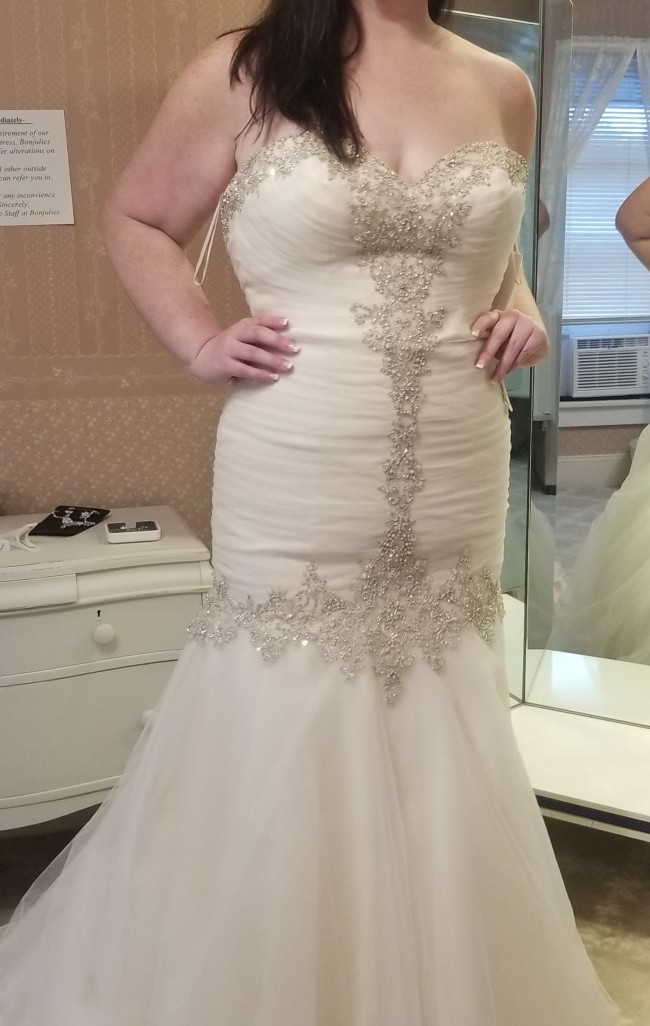 Morilee #2682 Diamante Beaded Embroidery on Tulle