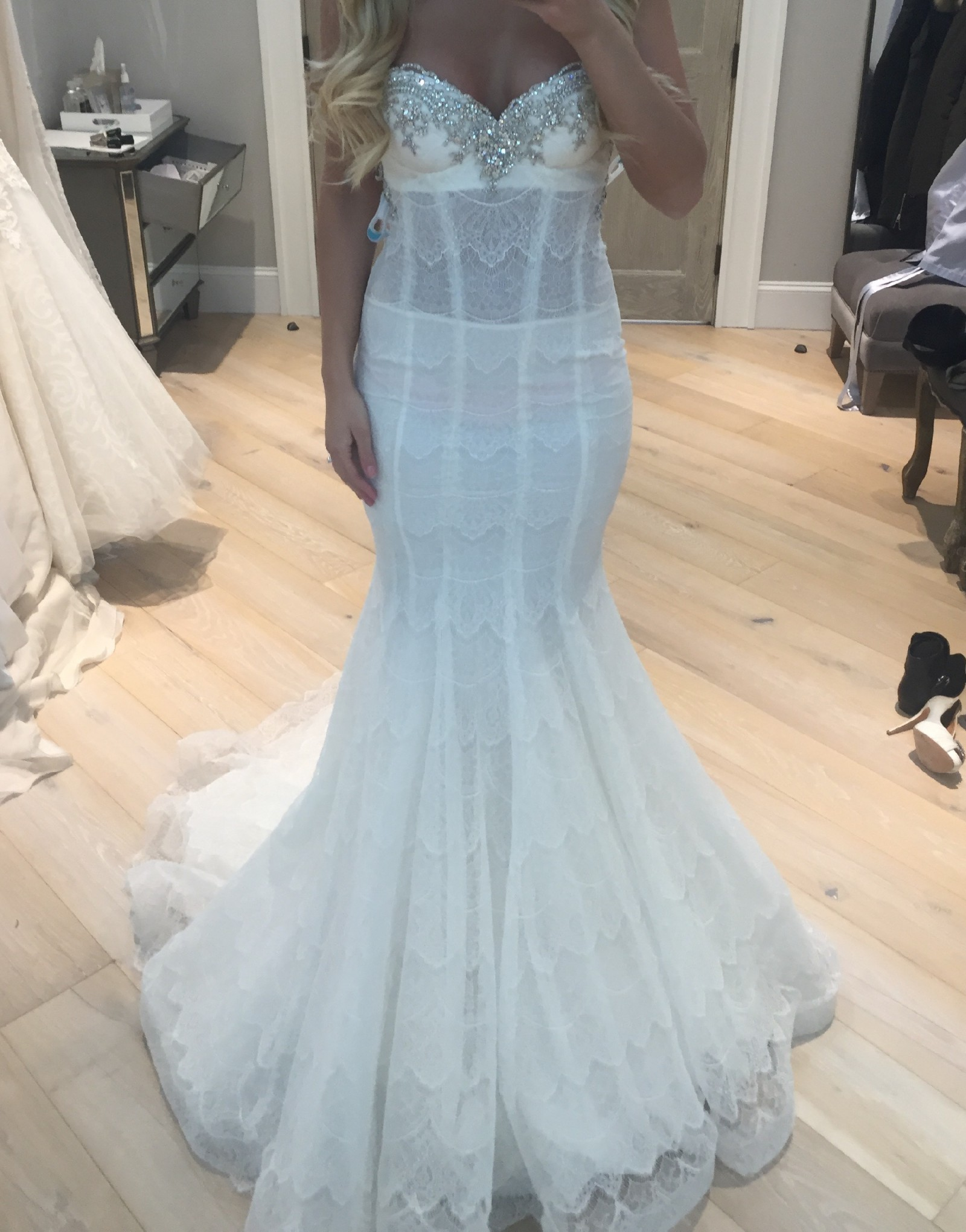 7708198c4d52 Pnina Tornai style #4291 Preowned Wedding Dress on Sale 69% Off ...
