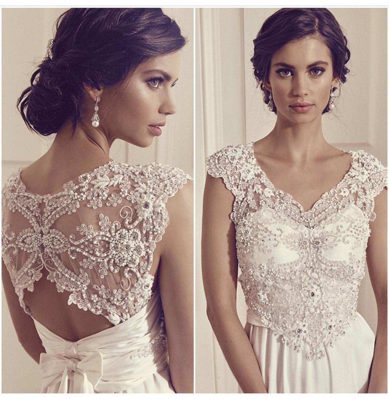 Anna Campbell Wedding Gowns: Anna Campbell Carolina Dress, Plus Cuff, Comb & Veil