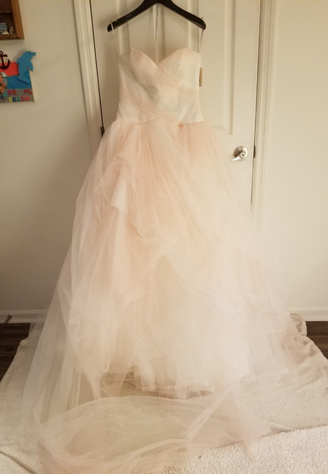 Vera Wang Strapless Tulle Ombre Ballgown in Ivory Pearl-NWT