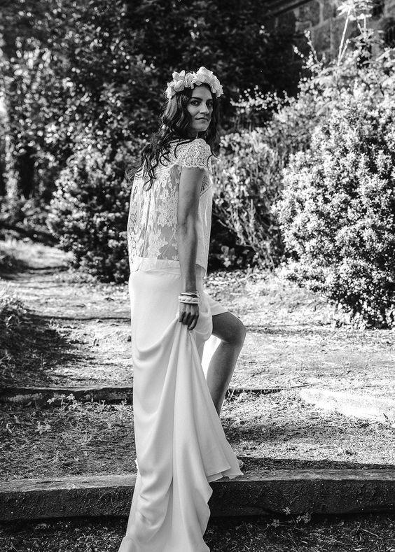 Laure de Sagazan Valmore Top & Loden Skirt