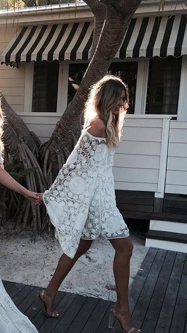 Chloe Off The Shoulder Crochet Dress Second Hand Wedding Dress On
