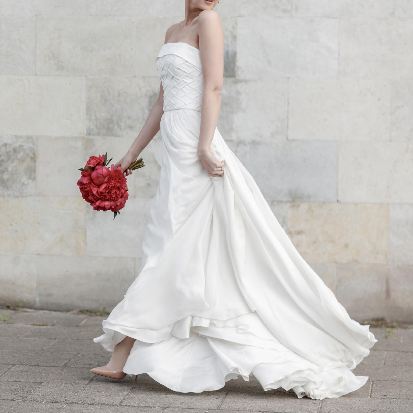 Egidijus Rainys Custom Made Silk Dress Used Wedding Dress