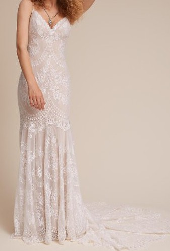 BHLDN Cascading Lace Gown
