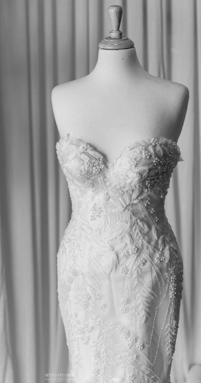 Norma And Lili Bridal Couture Mermaid gown with detachable overskirt
