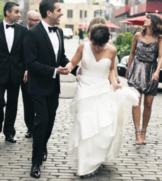 Carolina Herrera One Shoulder Wedding Dress