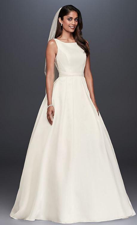 David S Bridal High Neck Mikado Ball Gown Wedding Dress Wedding Dress On Sale 42 Off