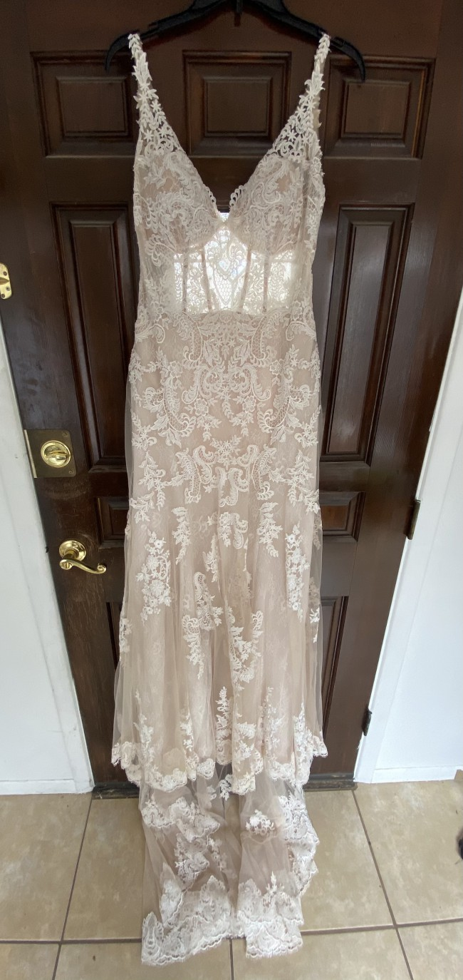 Essense of Australia D2387-EOA17 - Fit & Flare with soft lace all over