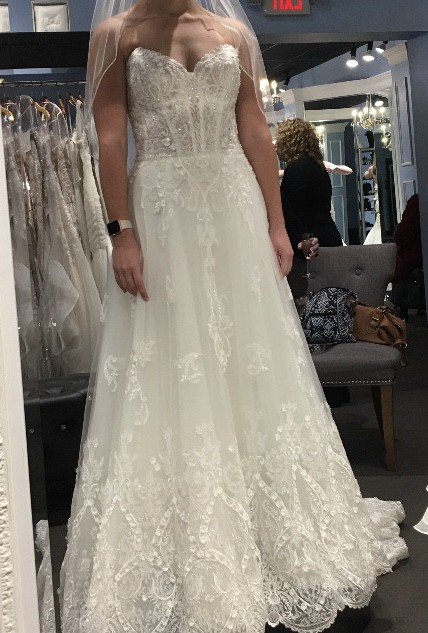 Sottero and Midgley Strapless sweetheart neck A-line natural waist wed