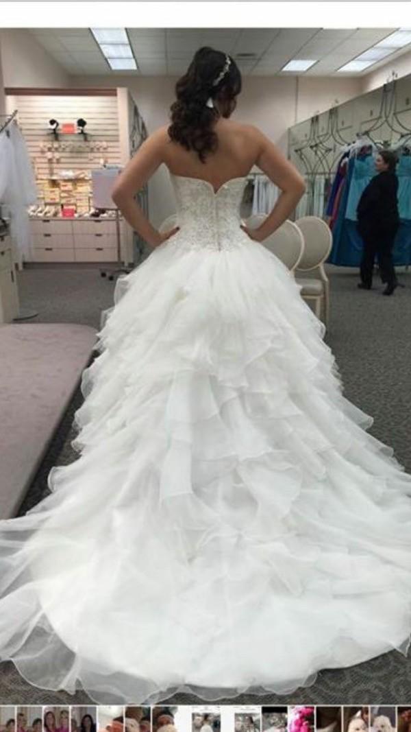 c7ea60ad30e3d Oleg Cassini CWG568 Second Hand Wedding Dress on Sale 52% Off ...