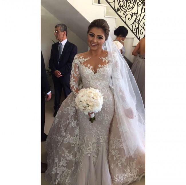 6486ce193f Steven Khalil Custom Made Used Wedding Dress on Sale 46% Off ...