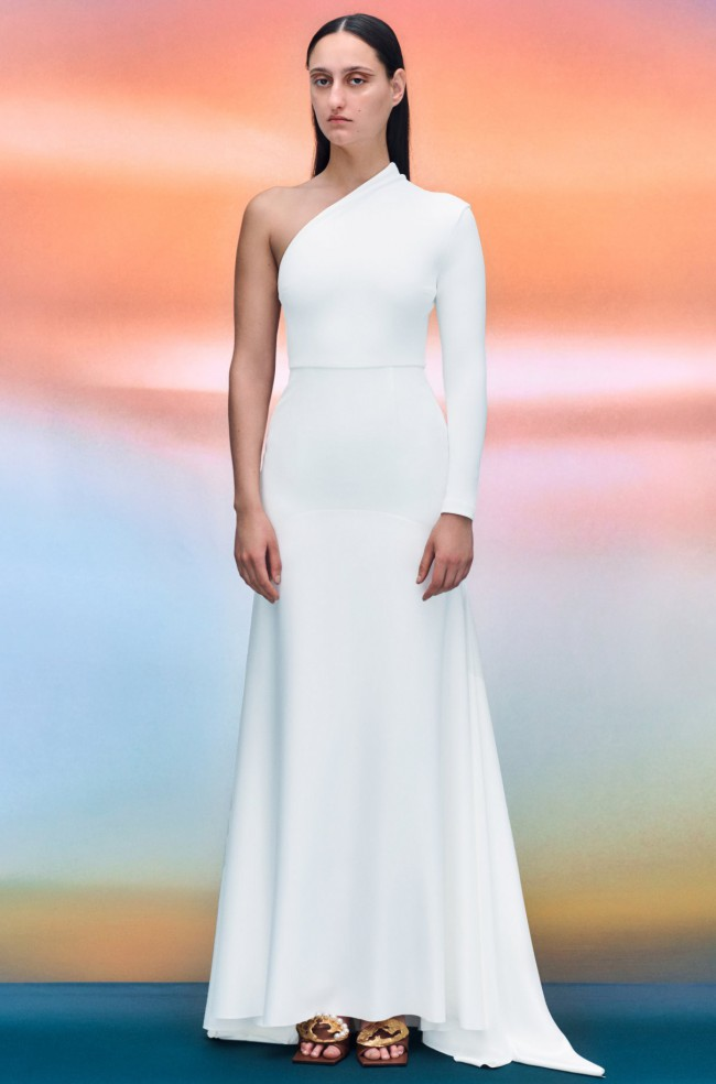 Solace London  Solace London Sarr White Maxi Gown