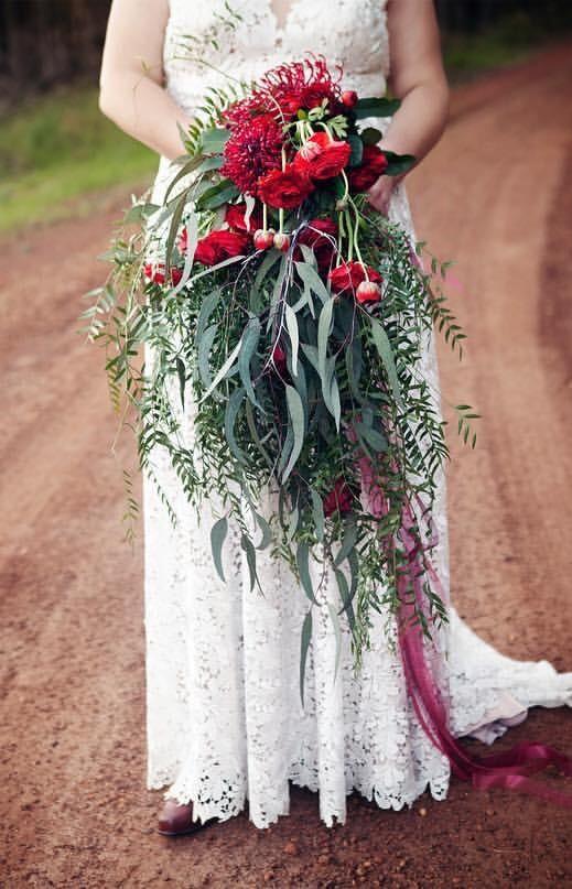 Anna Schimmel Boho lace wedding dress - (Altered)