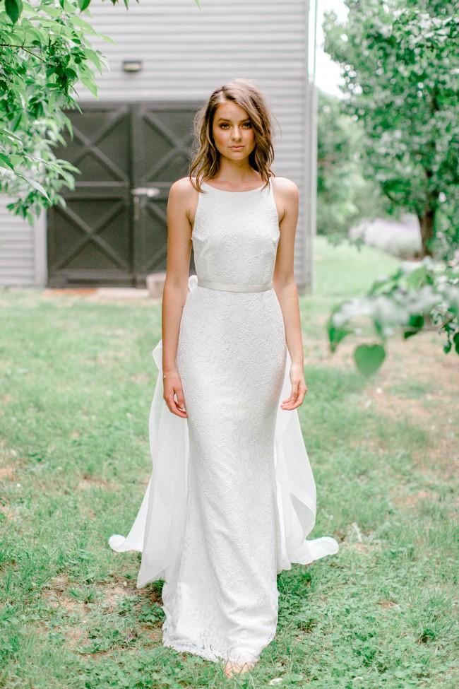 Karen Willis Holmes Kristy dress with Diamonds overskirt
