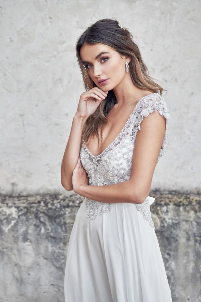 Anna Campbell Athena Silk Chiffon Summer skirt size small