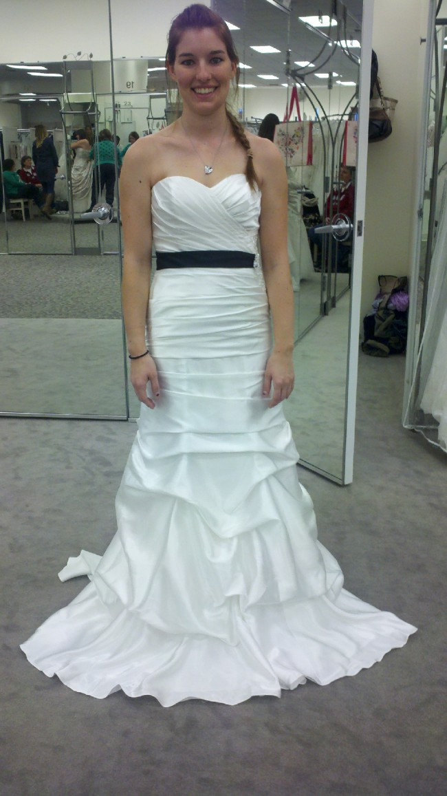 David's Bridal Strapless fit and flare WG3339