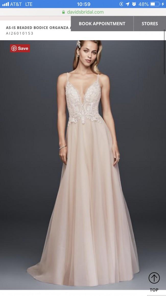 b5e0bd33ebdf David's Bridal New Wedding Dress on Sale 24% Off - Stillwhite South ...