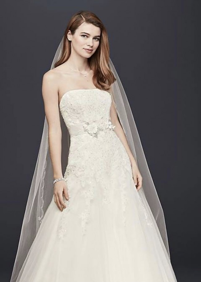 David's Bridal Collection, V3469IVORY