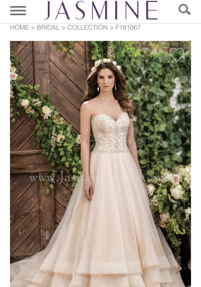 0da224c2c98a4 Jasmine Collection F181067 New Wedding Dress on Sale 46% Off ...