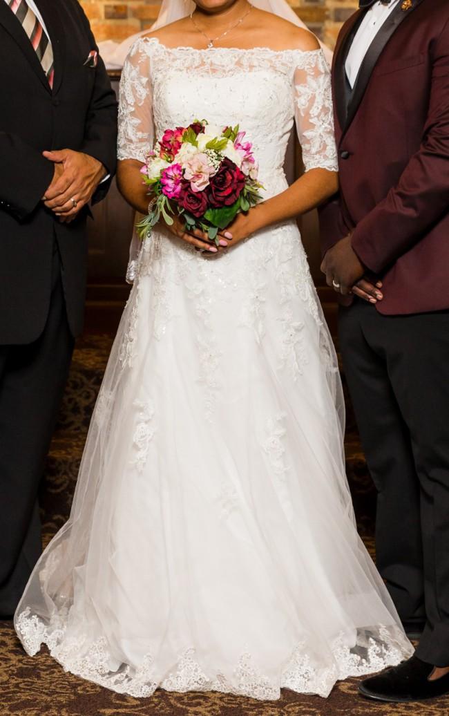 David's Bridal WG3734