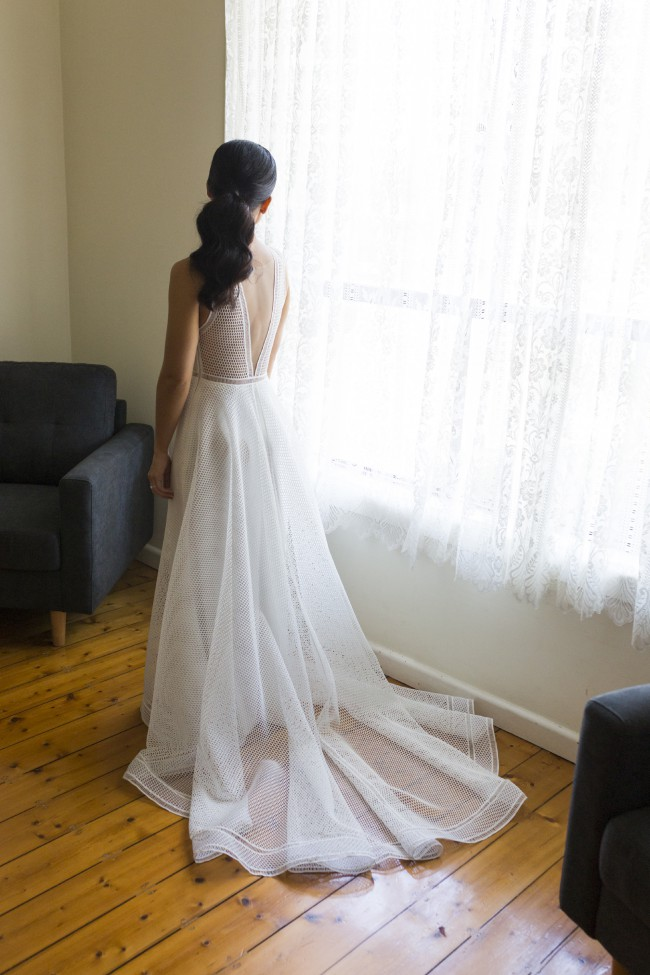 Suzanne Harward Lunar Gown and Veil