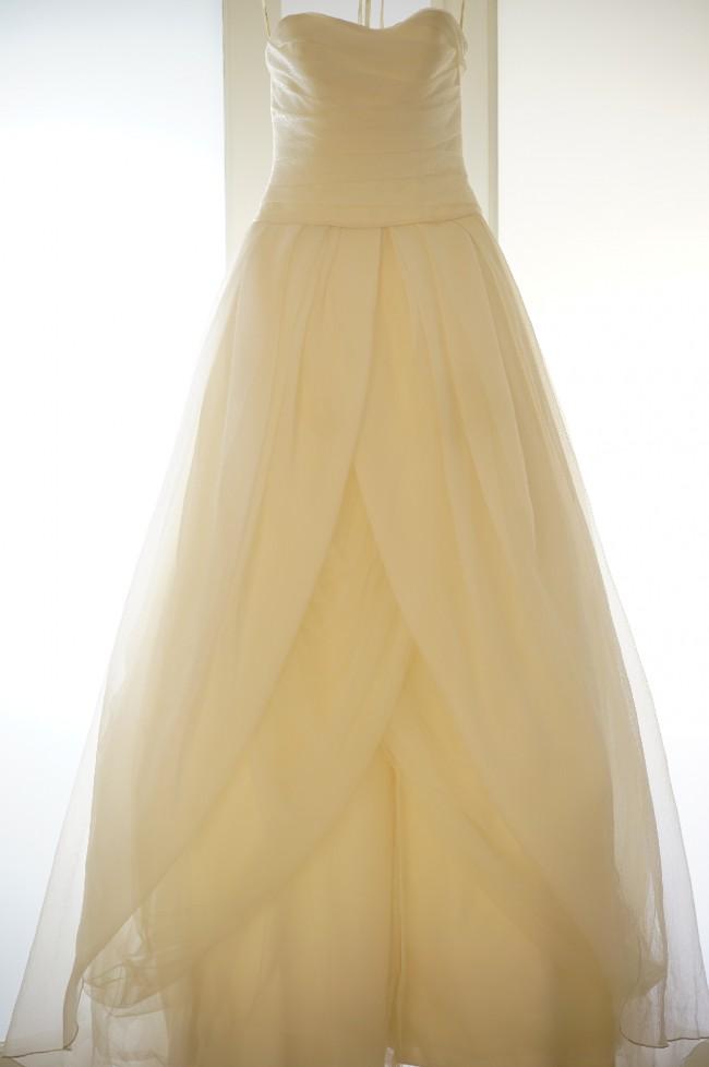 Vera Wang Textured Organza Wedding Ball Gown