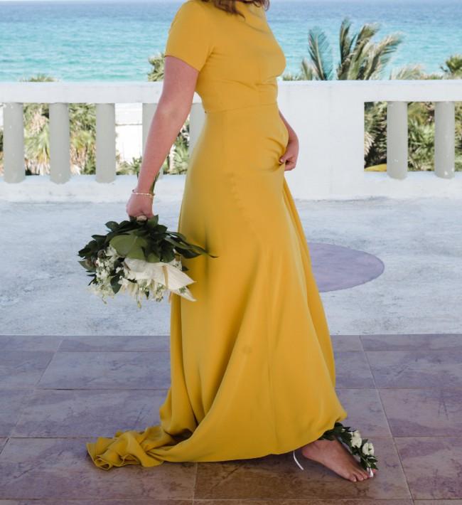 Sarah Seven  Marigold Sullivan Gown