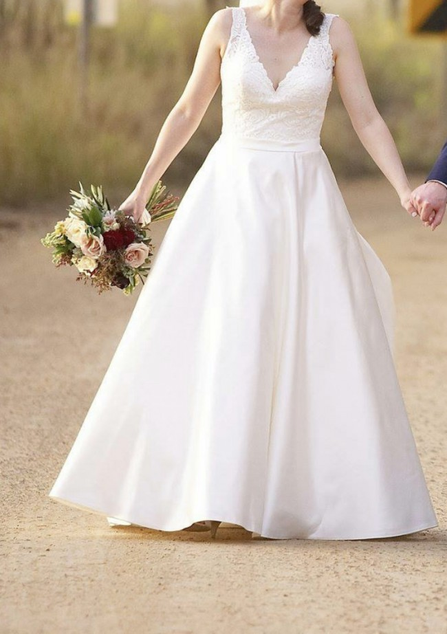 Allure Bridals Romance blended with a bit custom as well
