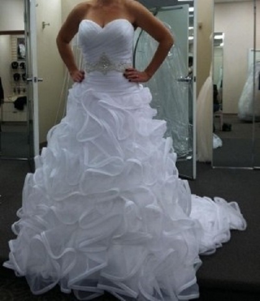 Used Plus Size Ball Gowns: Galina Signature Swg492 Used Wedding Dress On Sale 66% Off