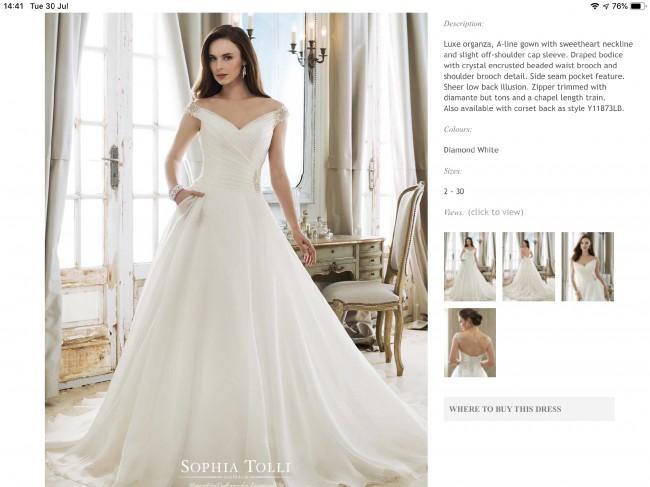 Sophia Tolli Y11873 Ceres