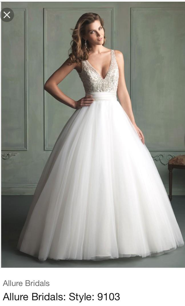 Allure Wedding Dresses.Allure Bridals 9103 Size 12