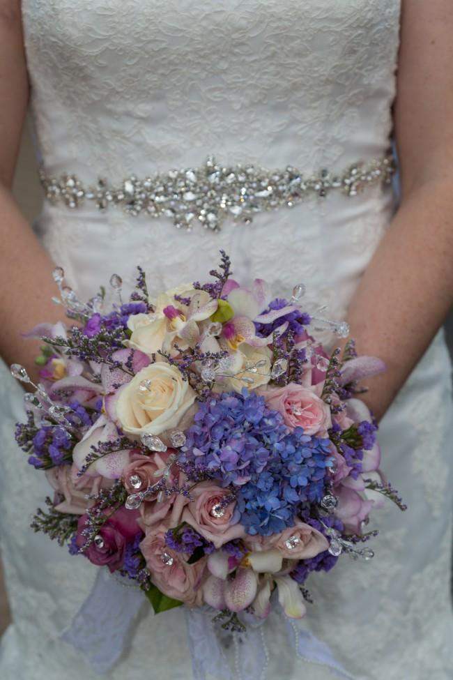 David's Bridal trumpet gown